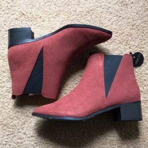NWT New Look WIDE WIDTH block heel Chelsea boots